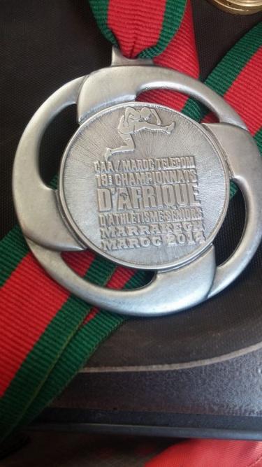 médaille championnat d'afrique